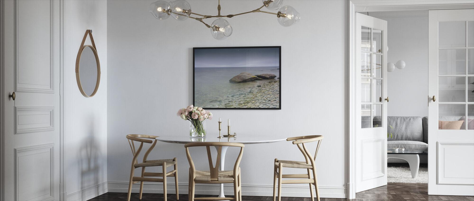 Stone Beach, Gotland - Framed print - Kitchen