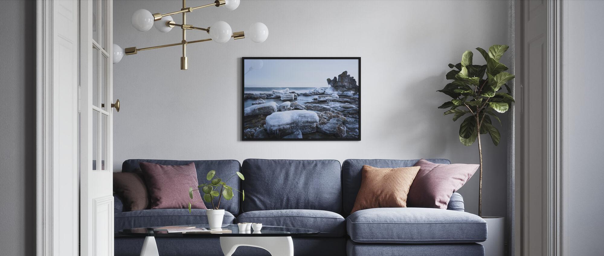 Islandskap, Gotland - Innrammet bilde - Stue