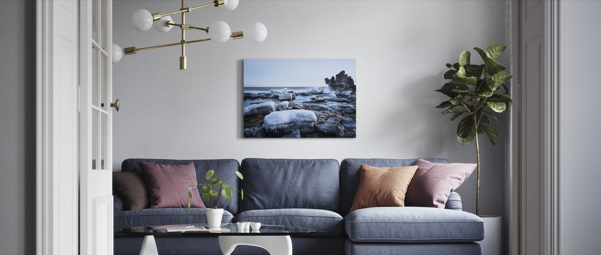 Ice Landscape, Gotland - Canvas print - Living Room