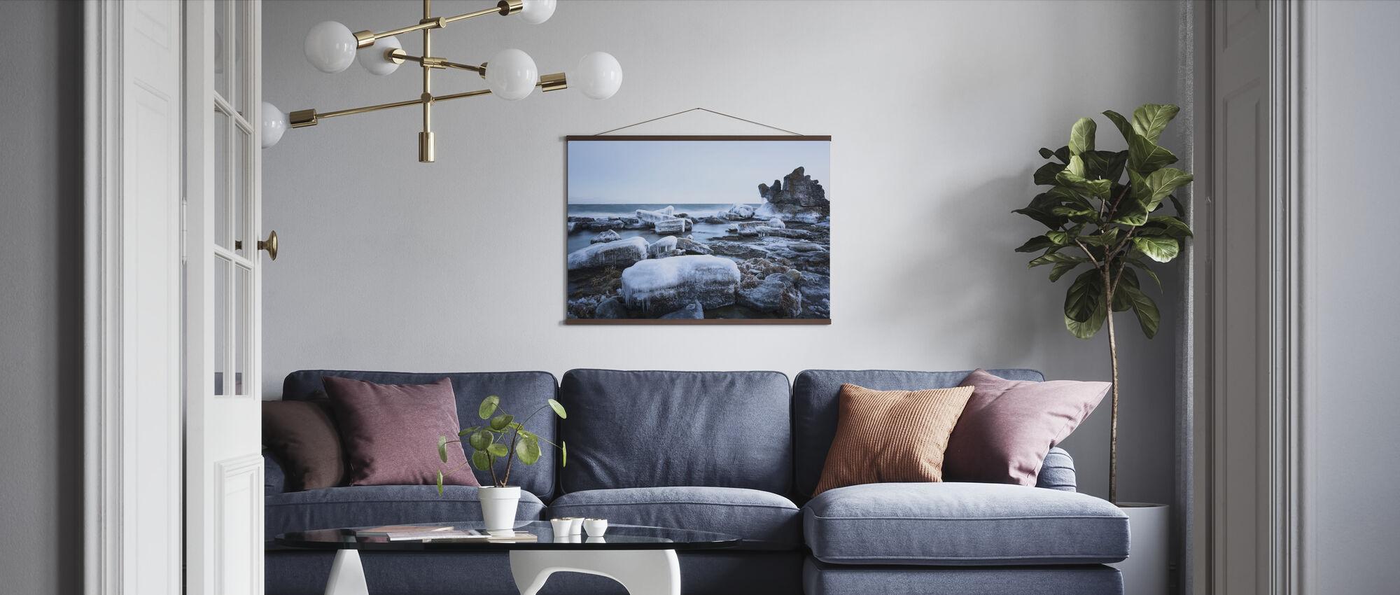 Ice Landscape, Gotland - Poster - Living Room