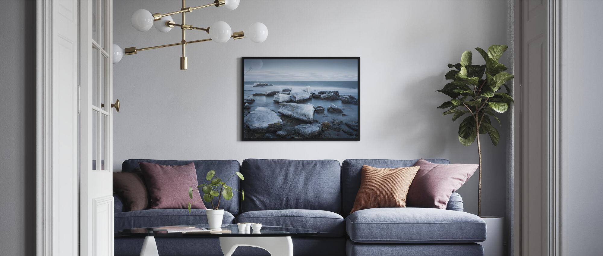Ice Coast, Gotland - Framed print - Living Room