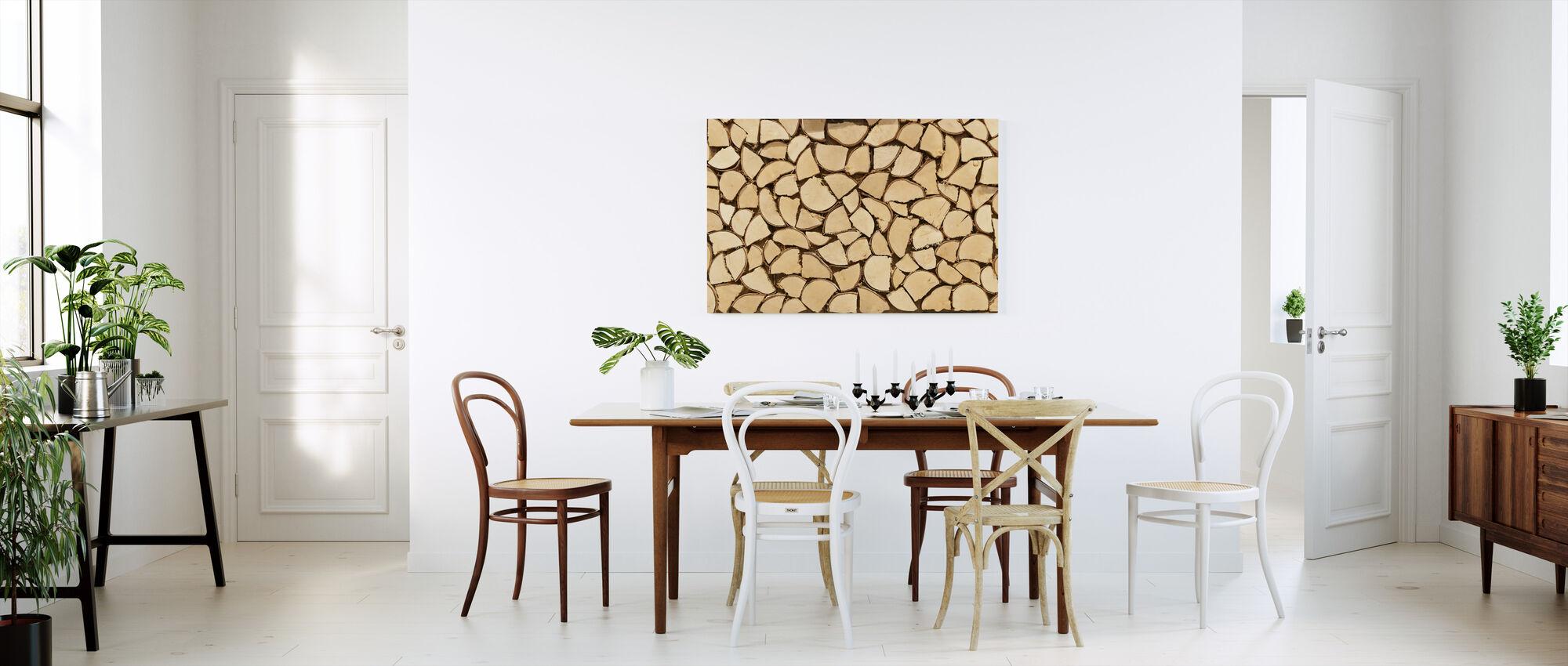 Light Brown Firewood - Canvas print - Kitchen