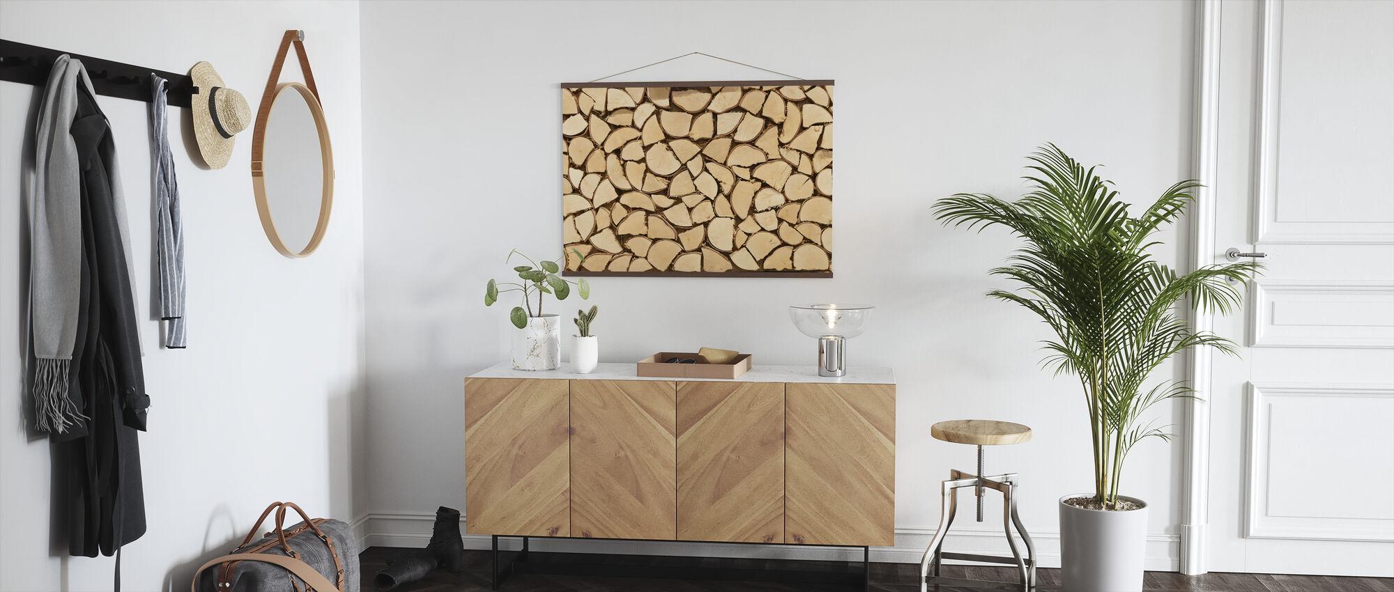 Light Brown Firewood - Poster - Hallway