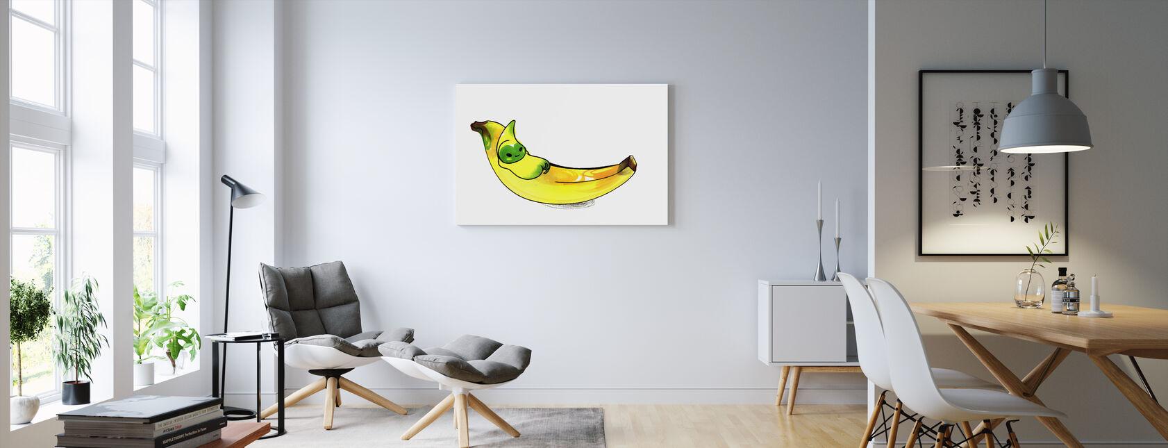 Banan - Canvastavla - Vardagsrum