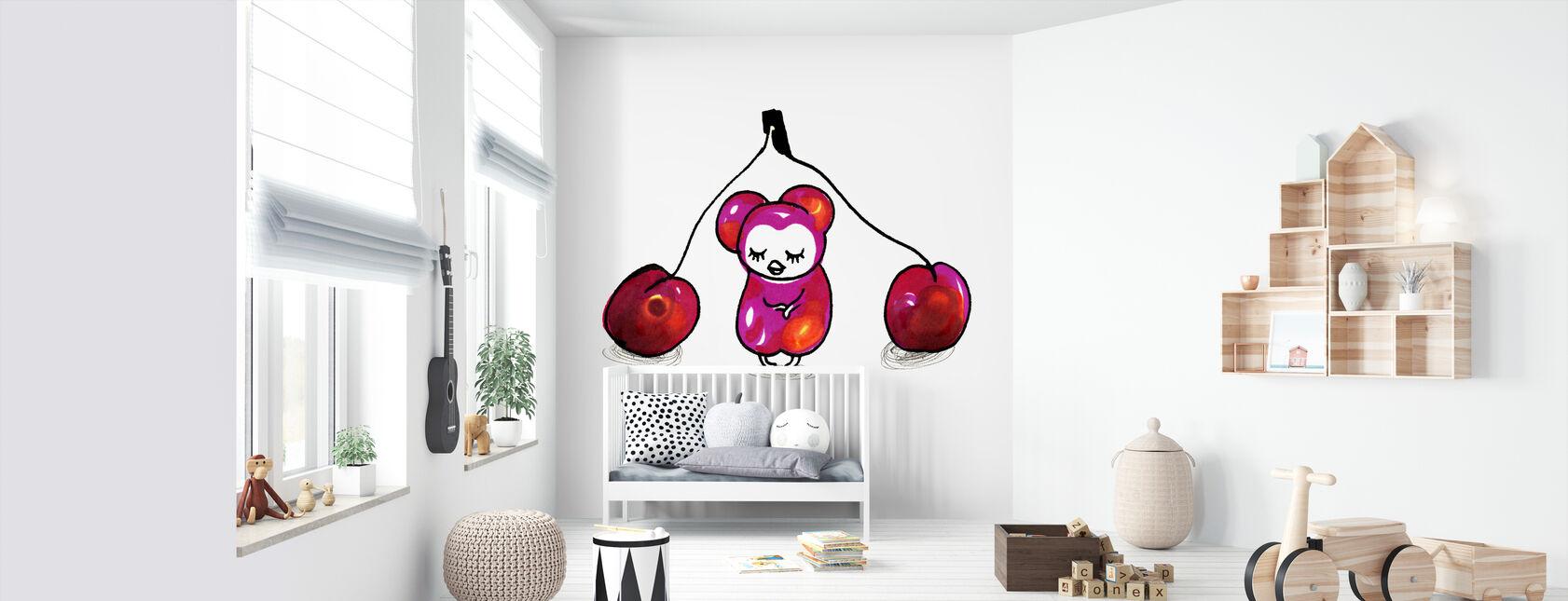 Kirsebær - Tapet - Babyværelse