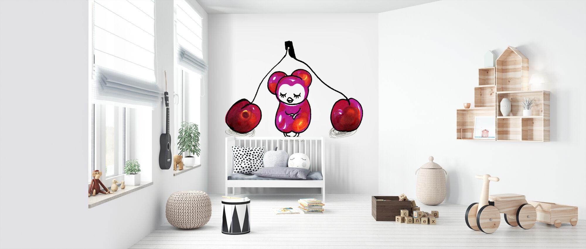 Kersen - Behang - Babykamer