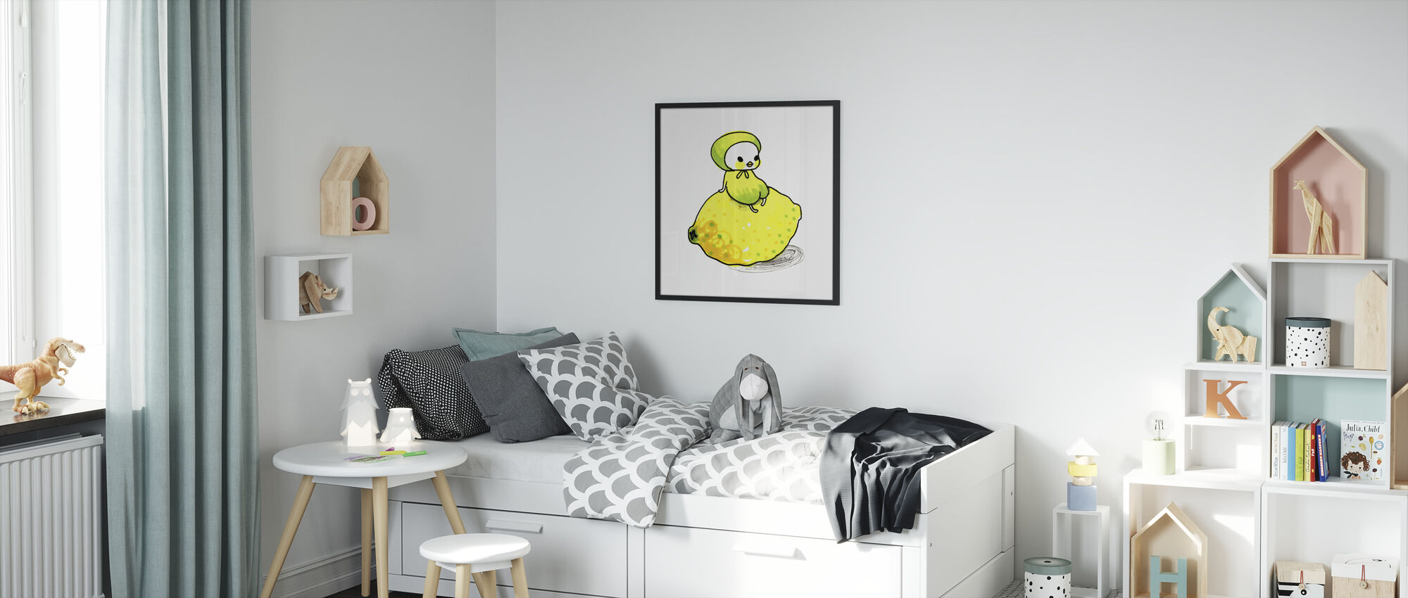 Lemon - Framed print - Kids Room