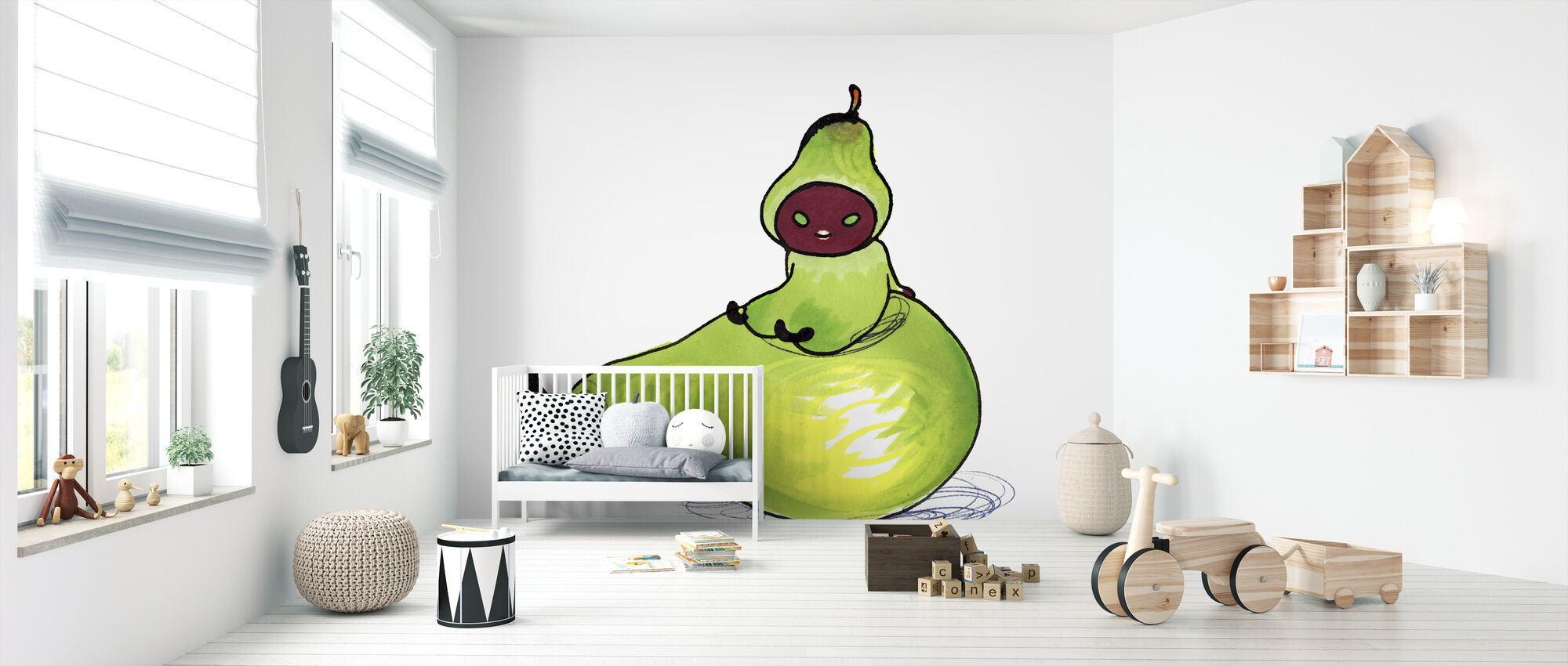 Pear - Wallpaper - Nursery