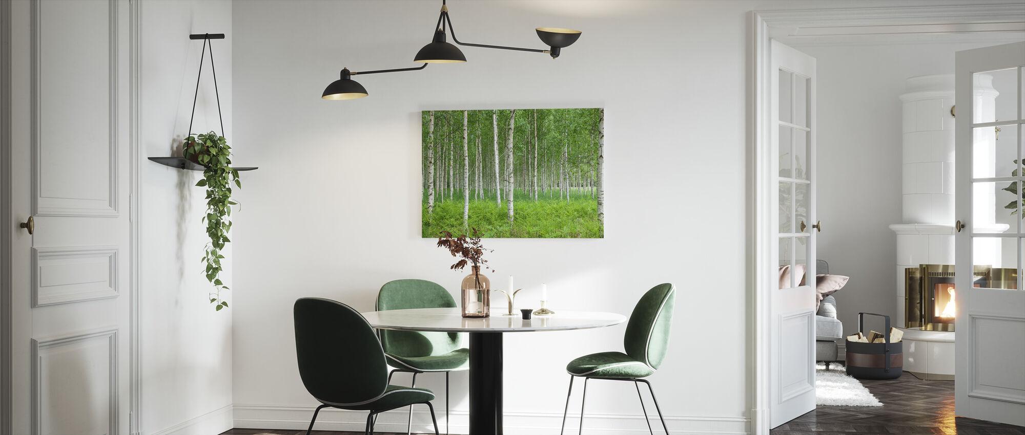 Sommer bjørkeskog - Lerretsbilde - Kjøkken