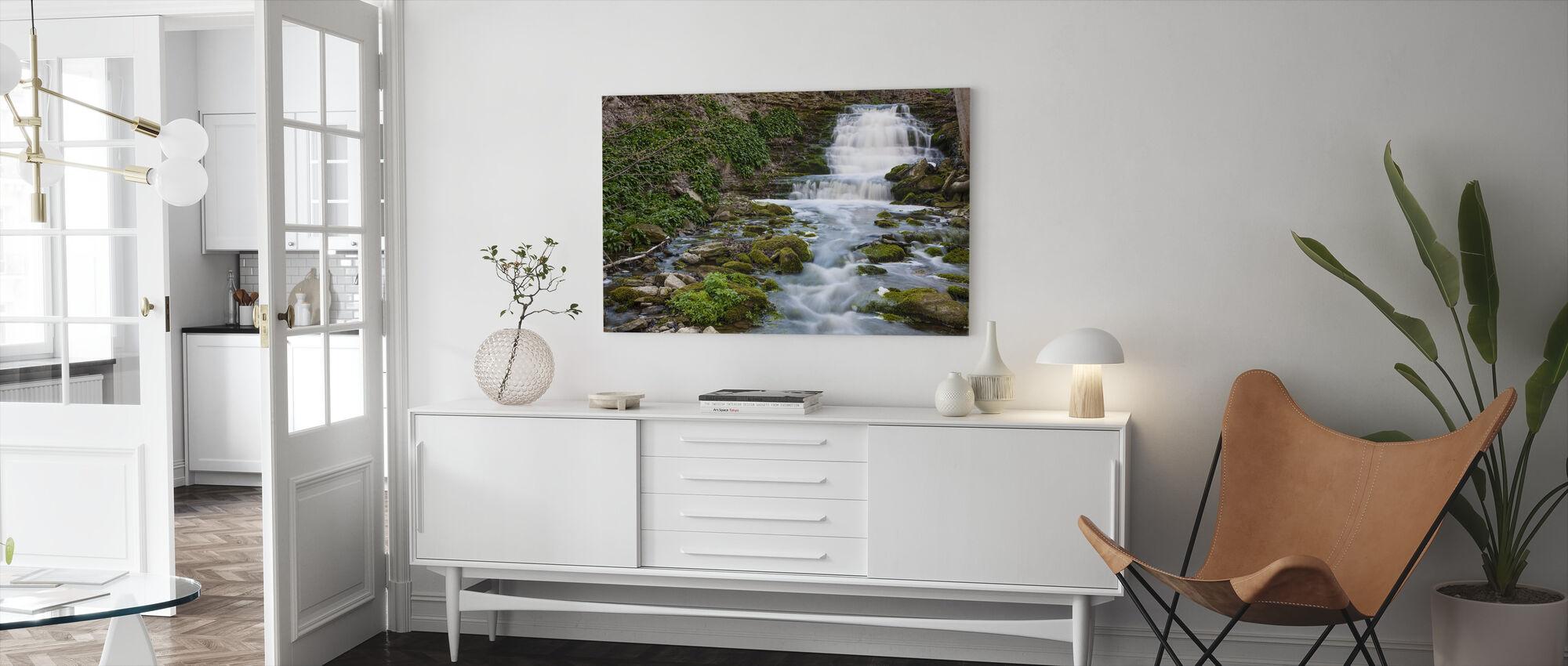 Stream, Gotland - Canvas print - Living Room