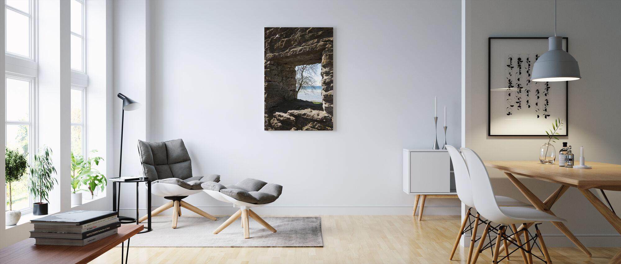 Stone Window - Canvas print - Living Room