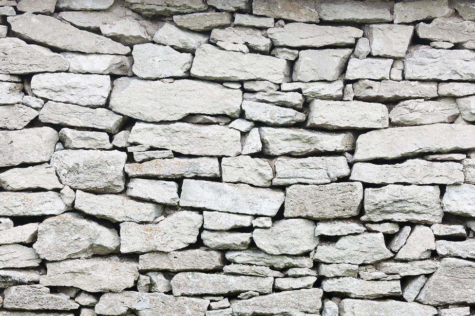 Grey Stone Wall Fototapeter & Tapeter 100 x 100 cm