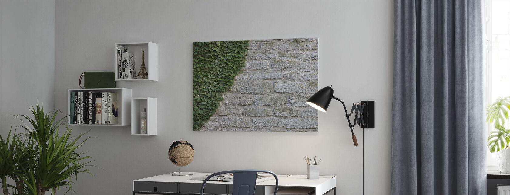 Ruïne met Ivy - Canvas print - Kantoor
