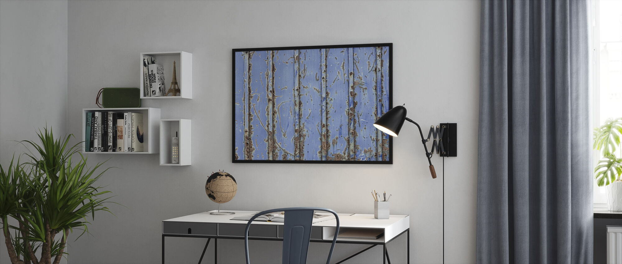 Steel Blue - Framed print - Office