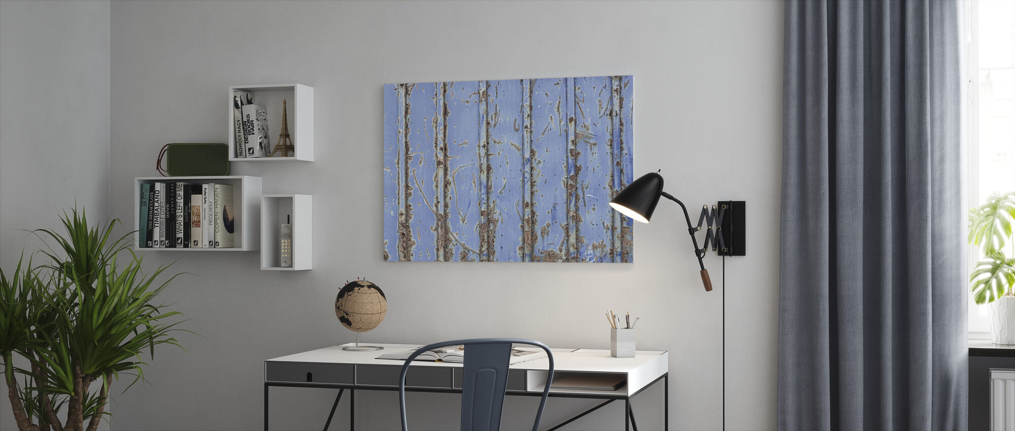 Steel Blue - Canvas print - Office