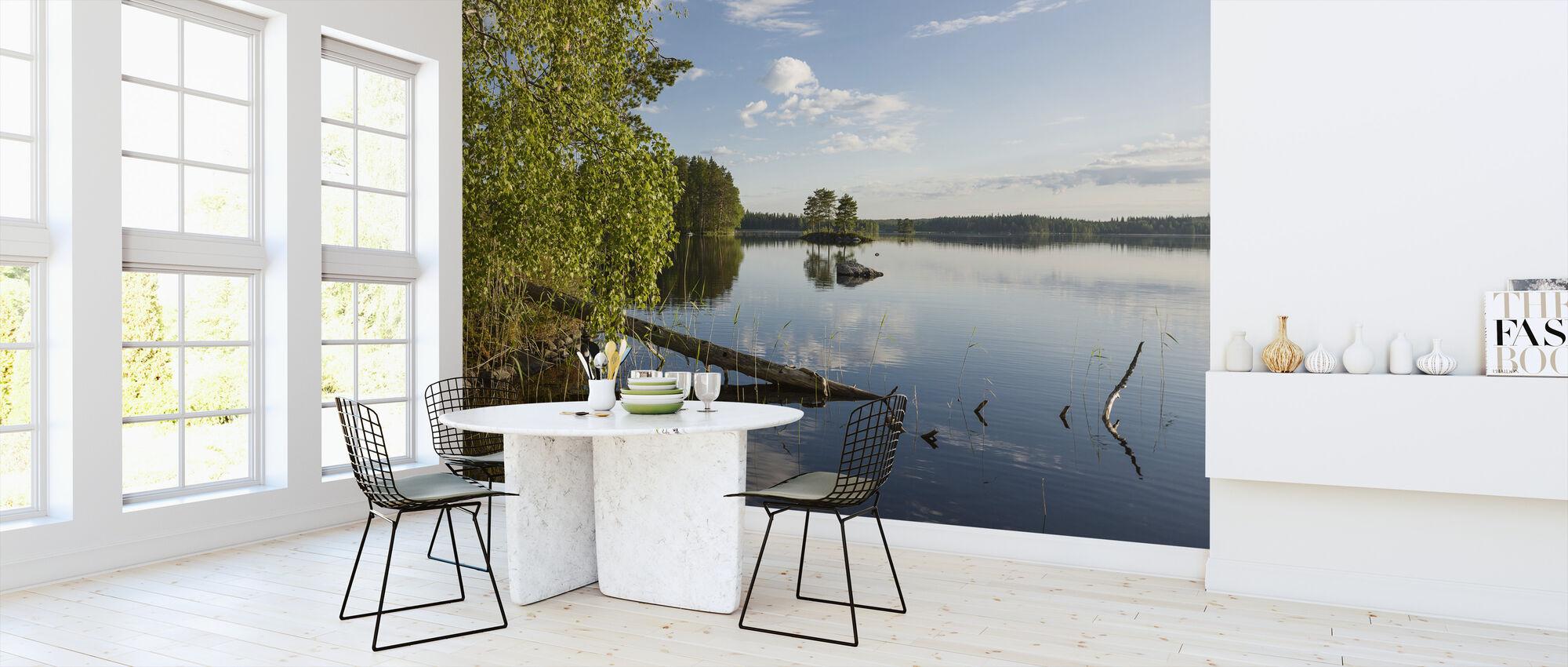 Swedish Lake Landscape - Wallpaper - Kitchen