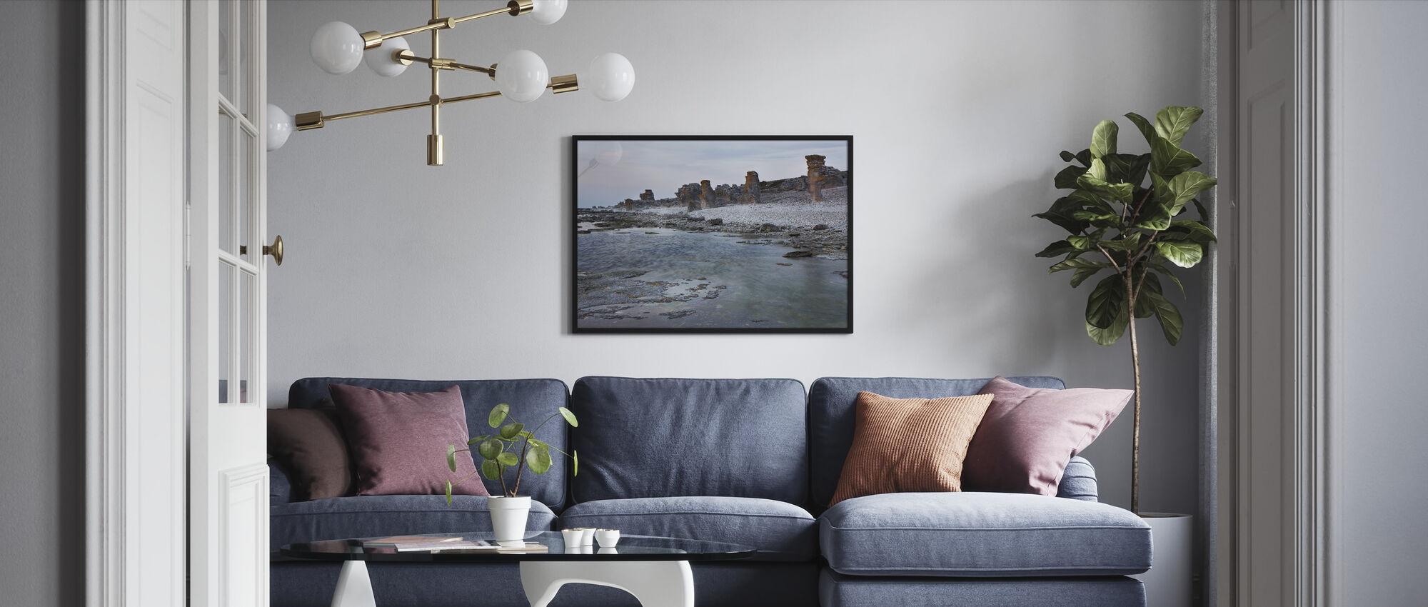 Gotlanti Rauk Beach - Kehystetty kuva - Olohuone