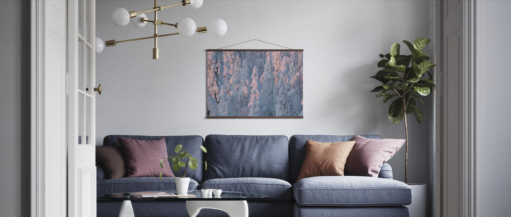 Lapland Winter Landscape - Poster - Living Room