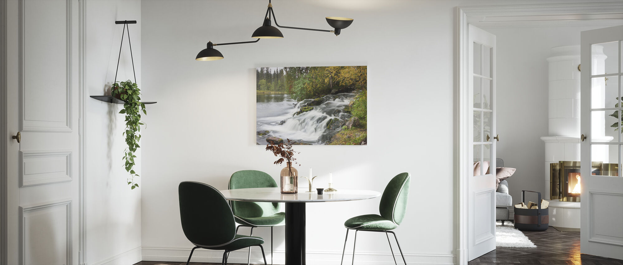Waterfall and Lake - Canvas print - Kitchen