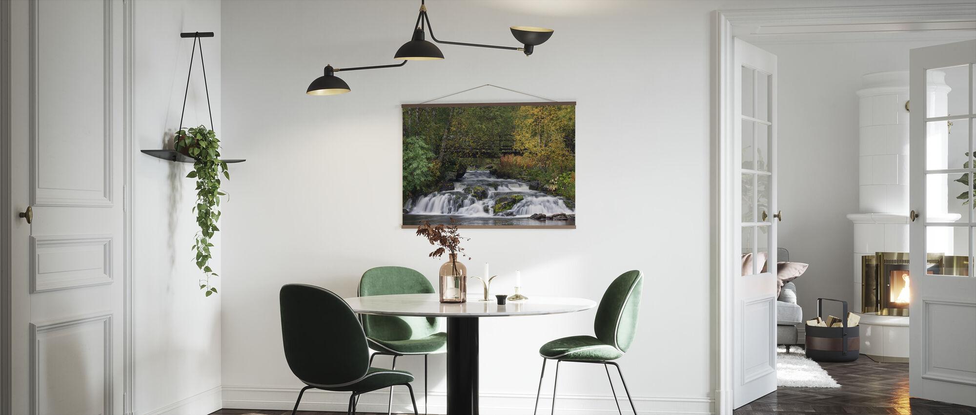 Beautiful Lapland Waterfall - Poster - Kitchen