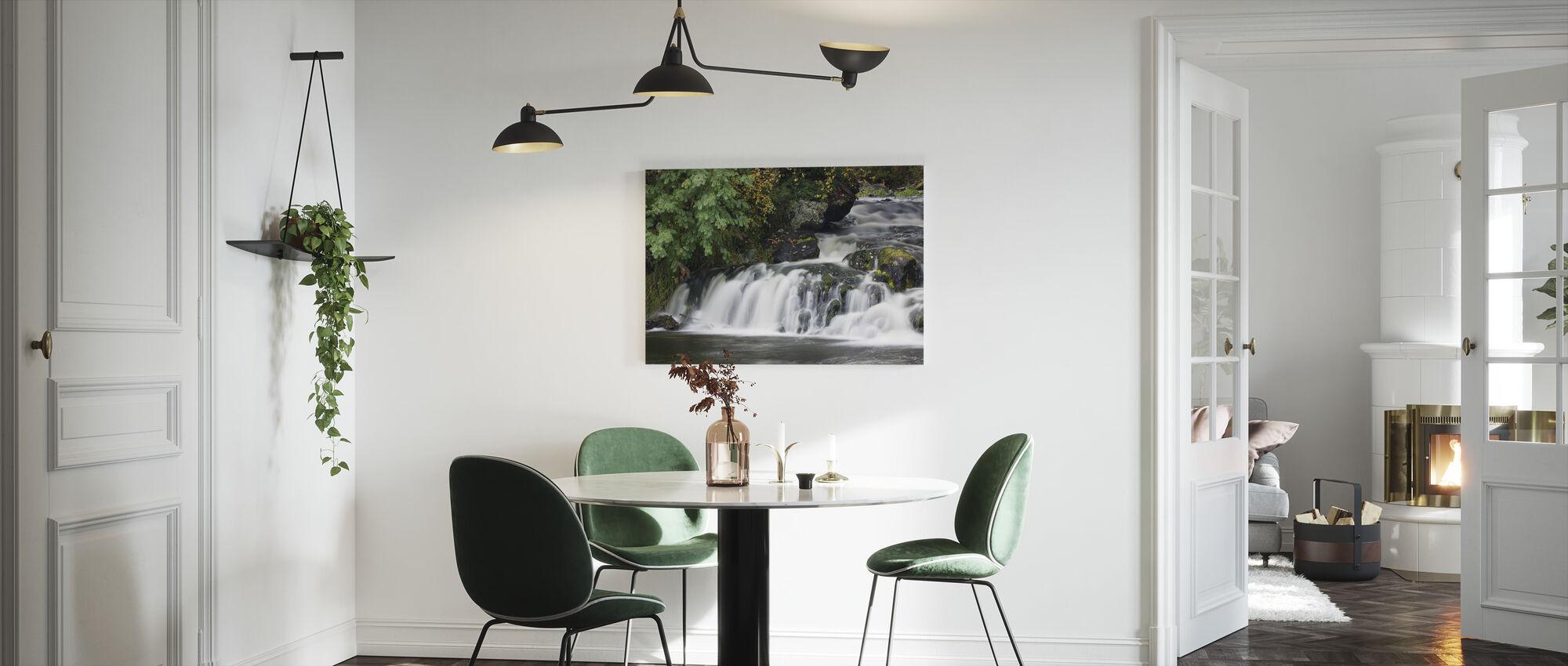 Autumn Waterfall, Lapland - Canvas print - Kitchen