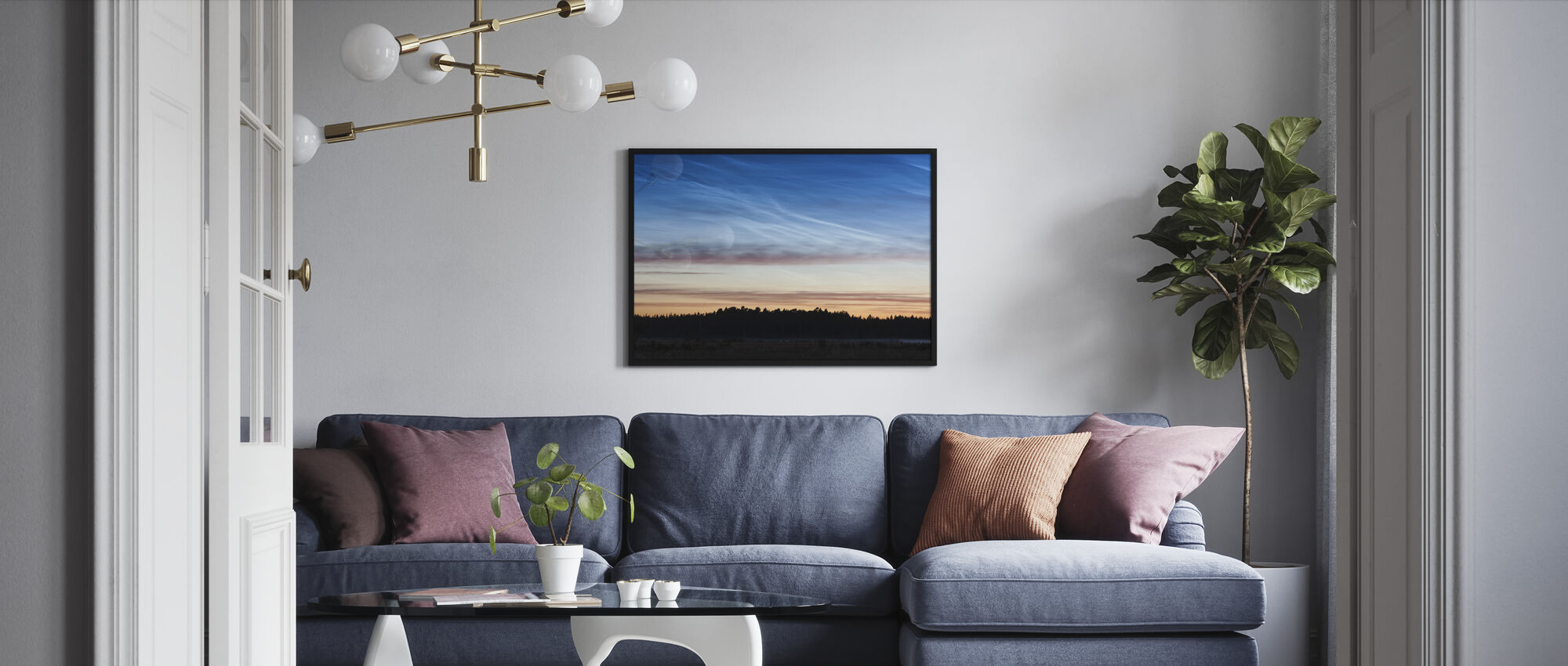Gotland Twilight - Framed print - Living Room