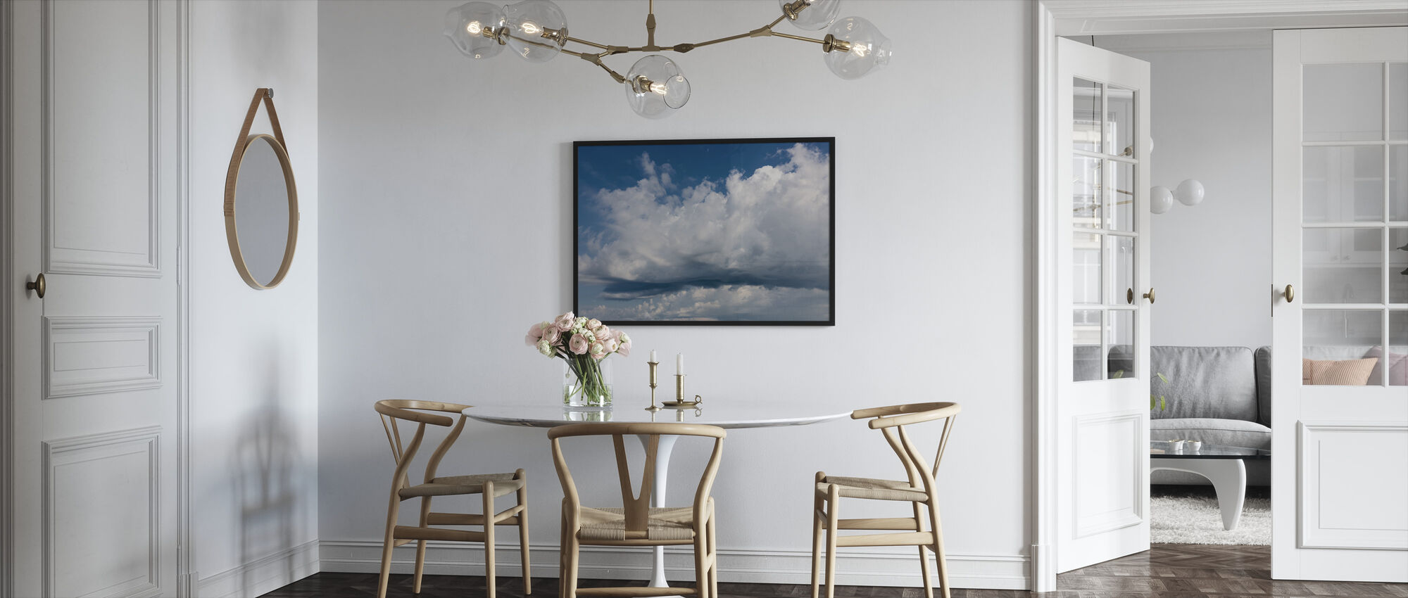 Cloudy Sky - Framed print - Kitchen