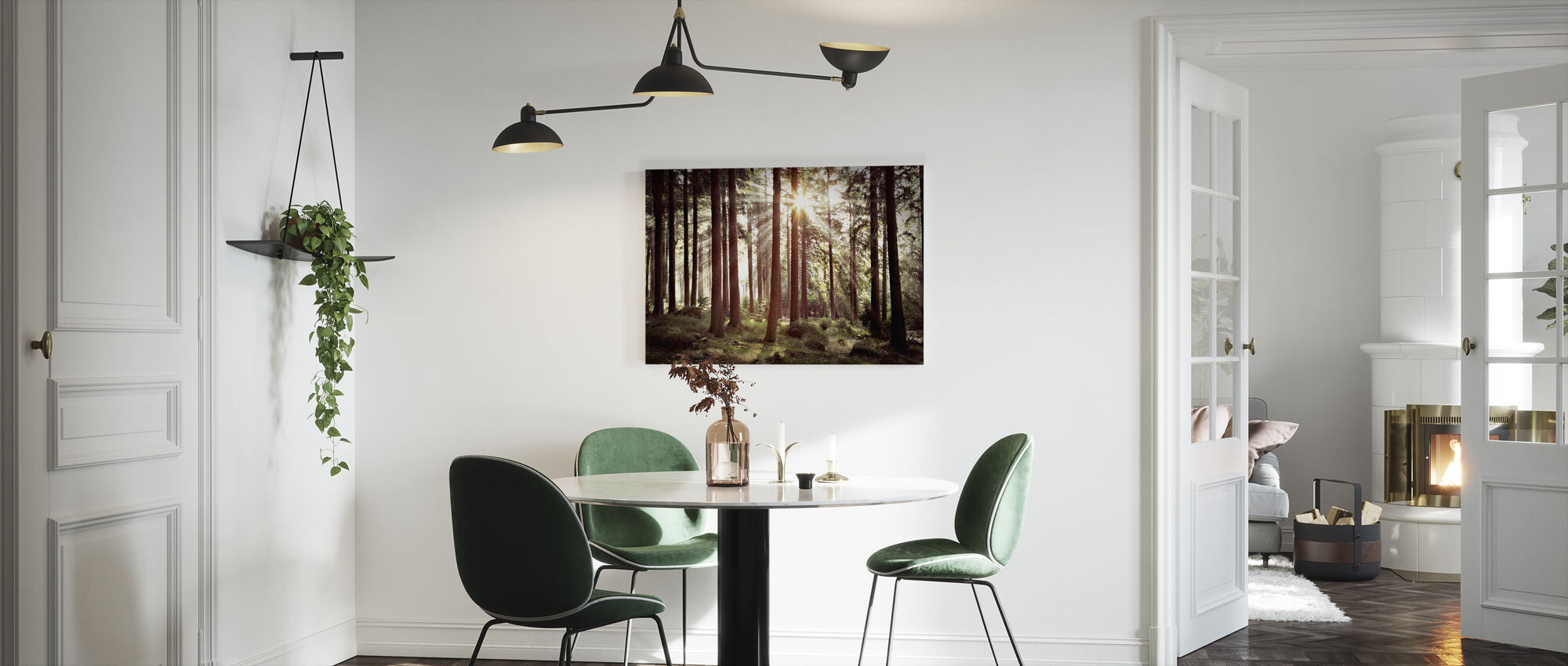 Sunbeam Through Trees - Retro - Canvas print - Kitchen