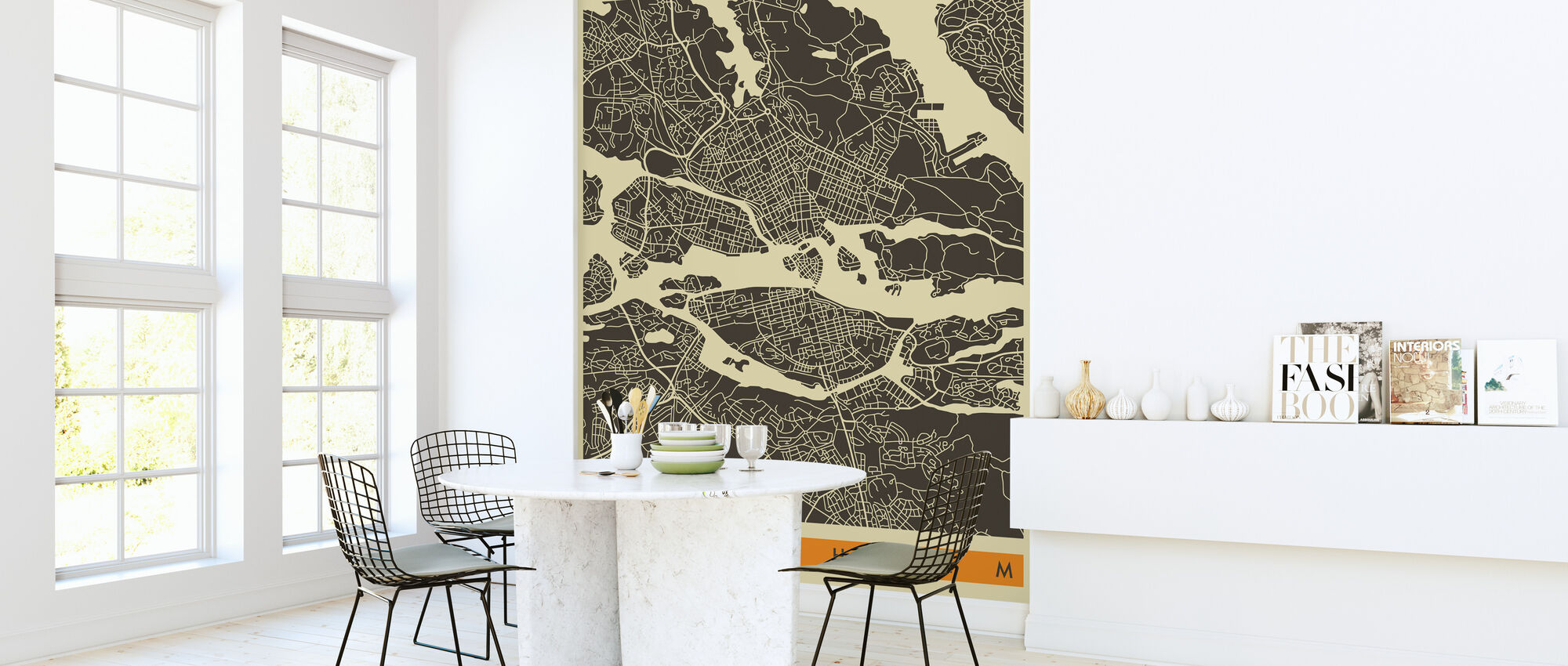 City Map - Stockholm - Wallpaper - Kitchen
