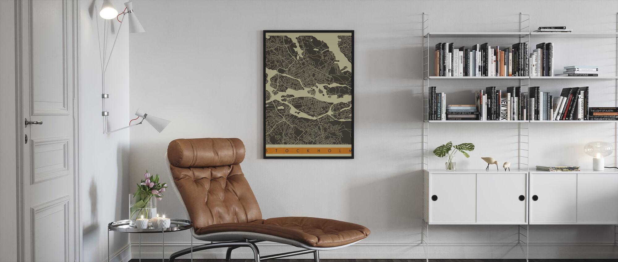 City Map - Stockholm - Framed print - Living Room