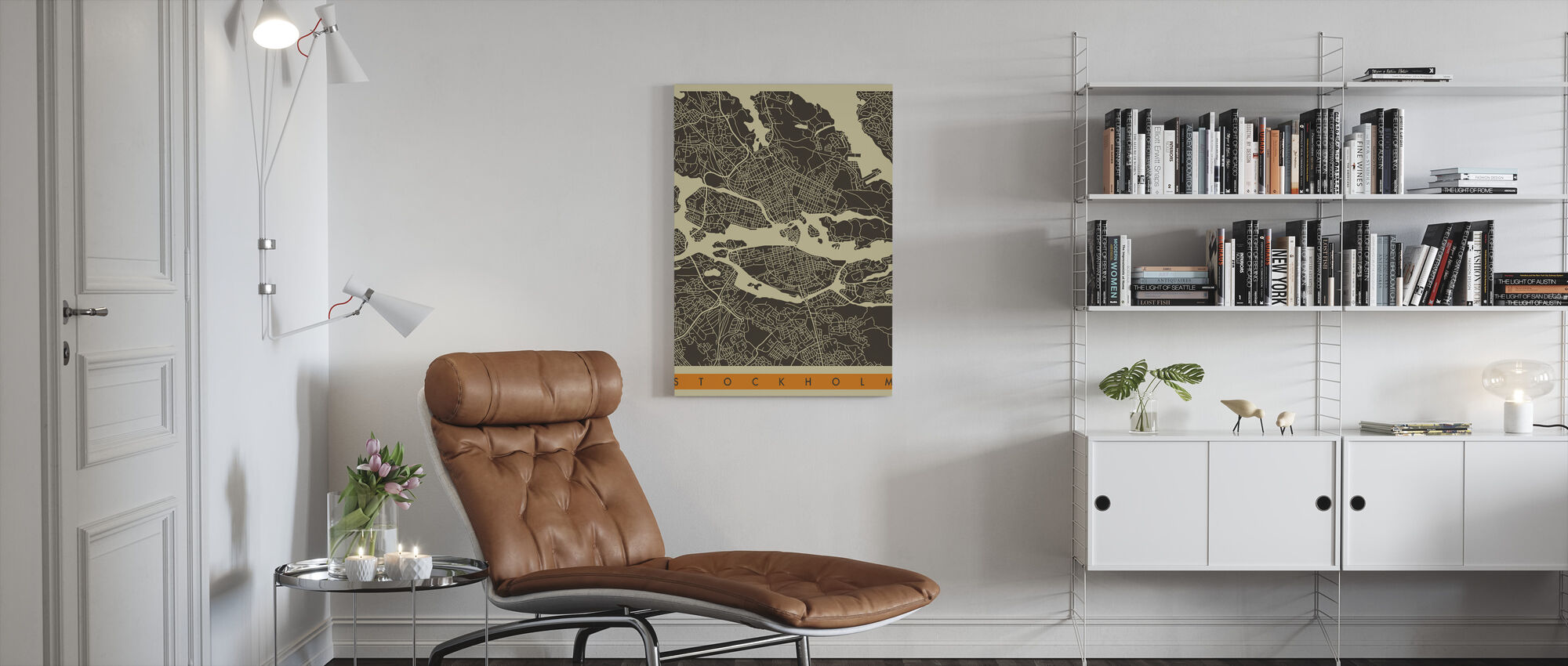 City Map - Stockholm - Canvas print - Living Room