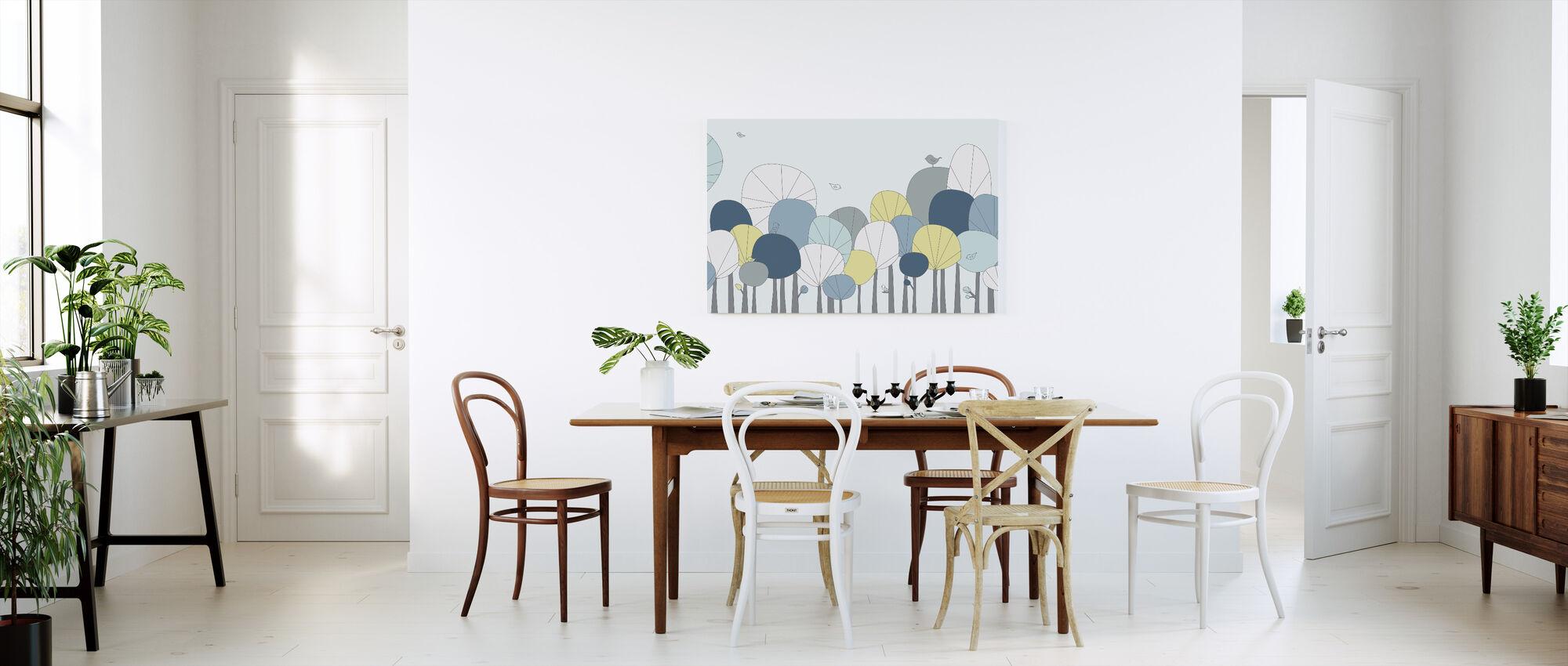 Happy Forest - Pastel Blue - Canvas print - Kitchen