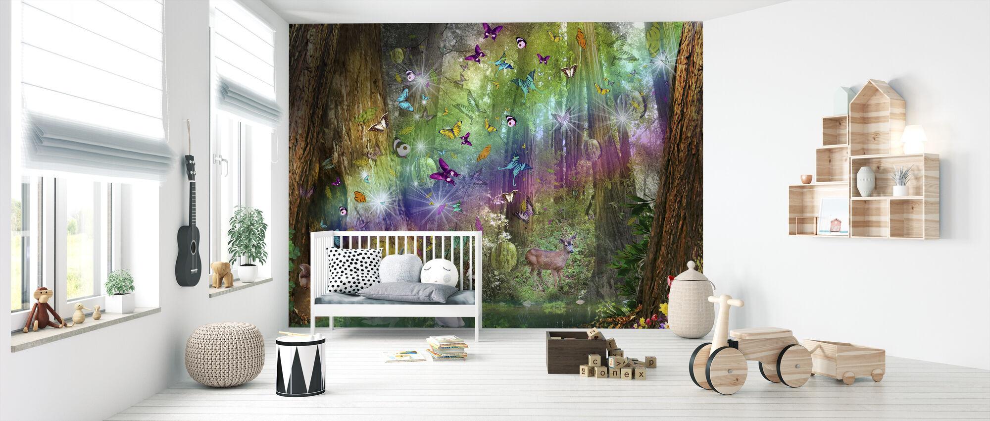 Red Wood Paradise - Wallpaper - Nursery
