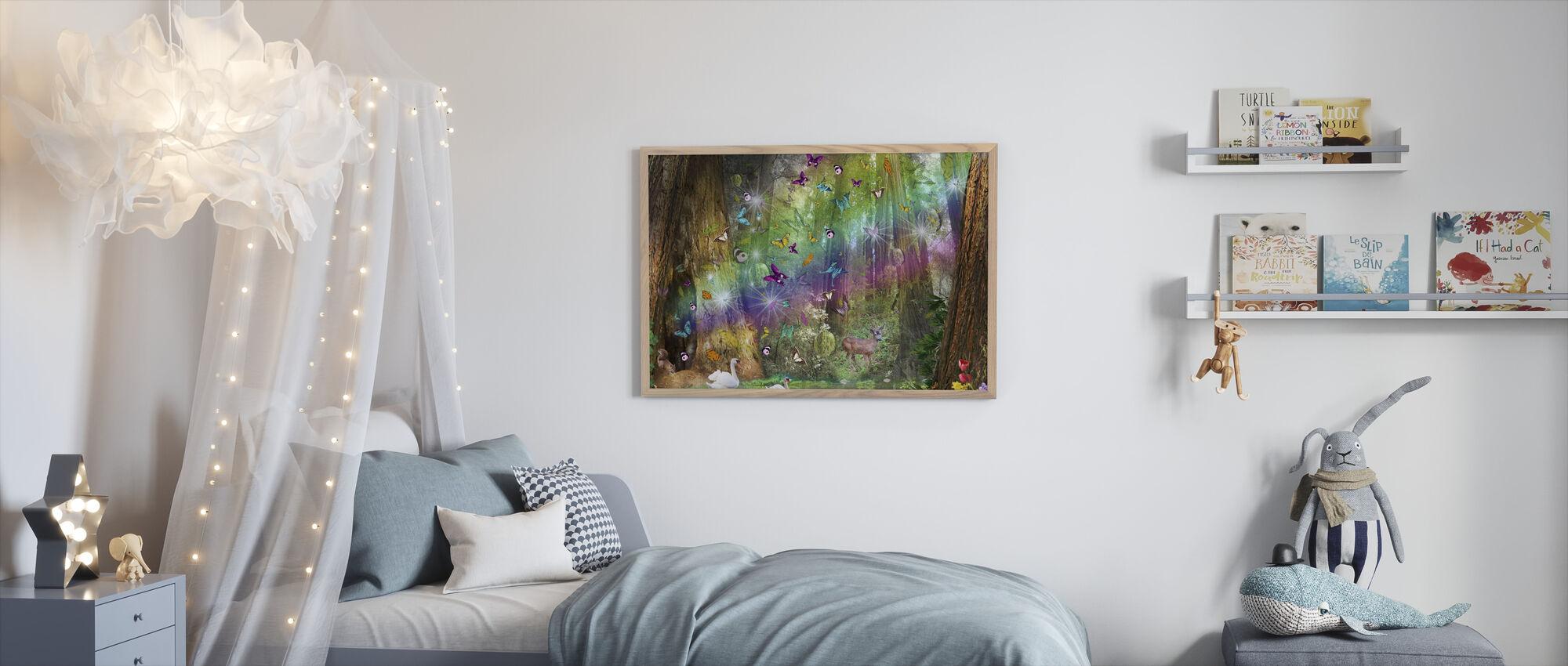Red Wood Paradise - Framed print - Kids Room