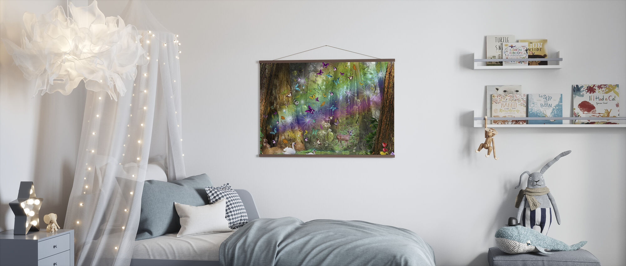 Red Wood Paradise - Poster - Kids Room