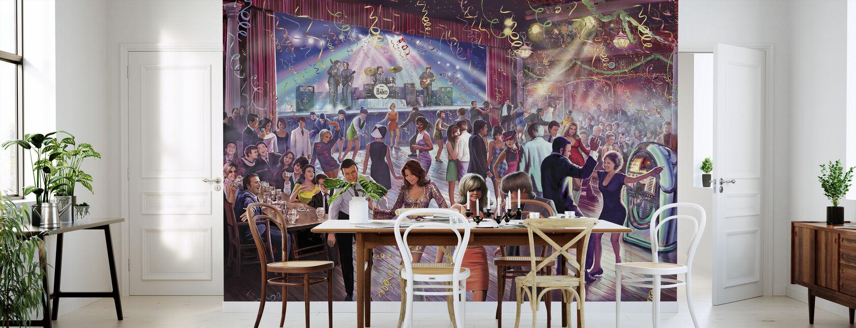 1960-talets dansscen - Tapet - Kök