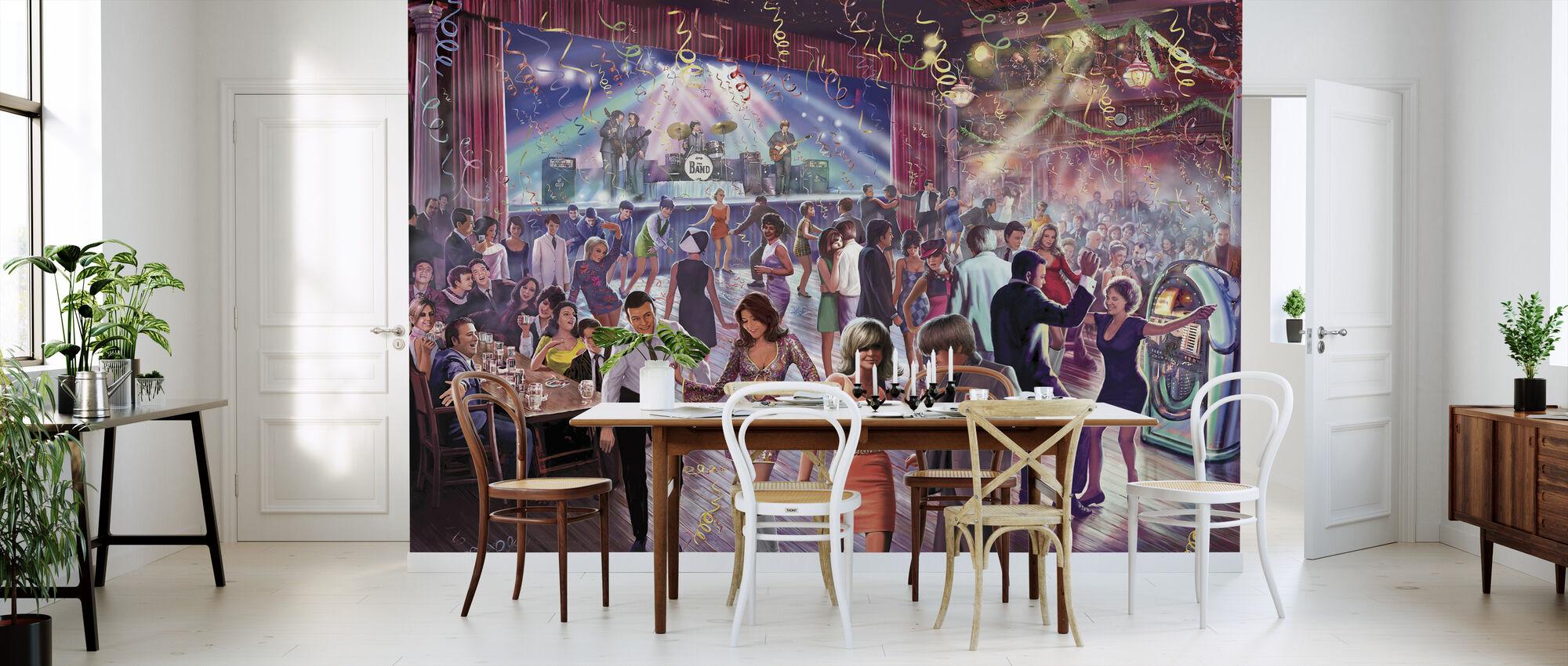 1960's Dans Scene - Behang - Keuken