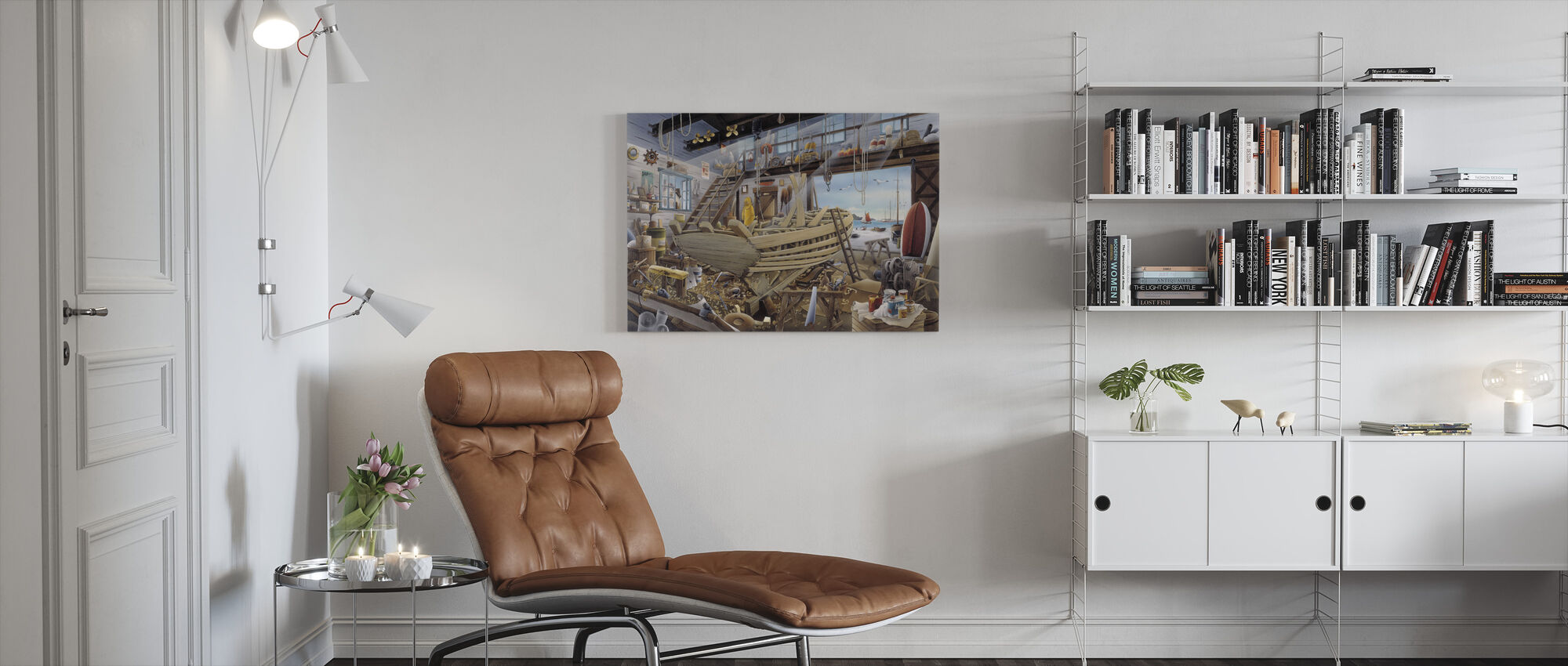 Boat Yard - Canvas print - Living Room