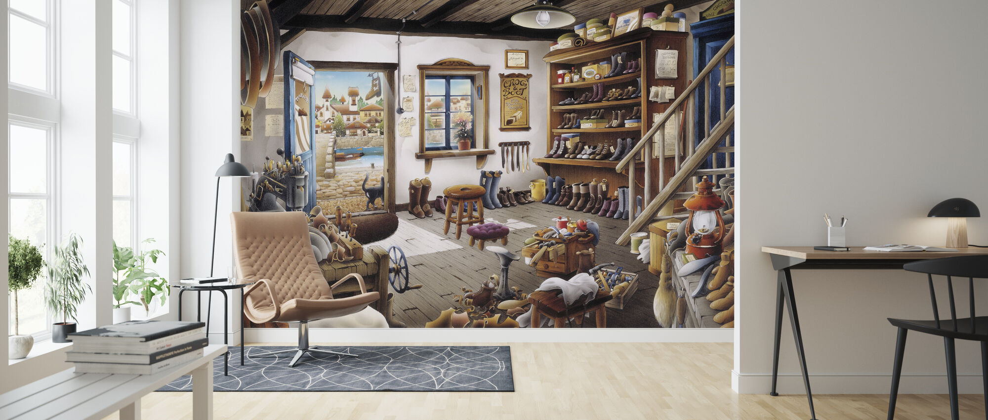The Cobbler Shop - Wallpaper - Living Room