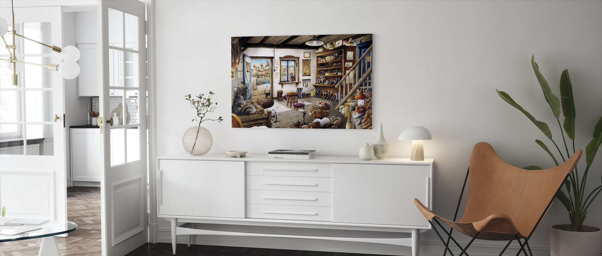 The Cobbler Shop - Canvas print - Living Room