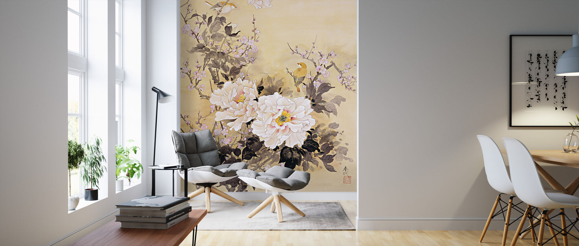 Spring Blossom - Wallpaper - Living Room