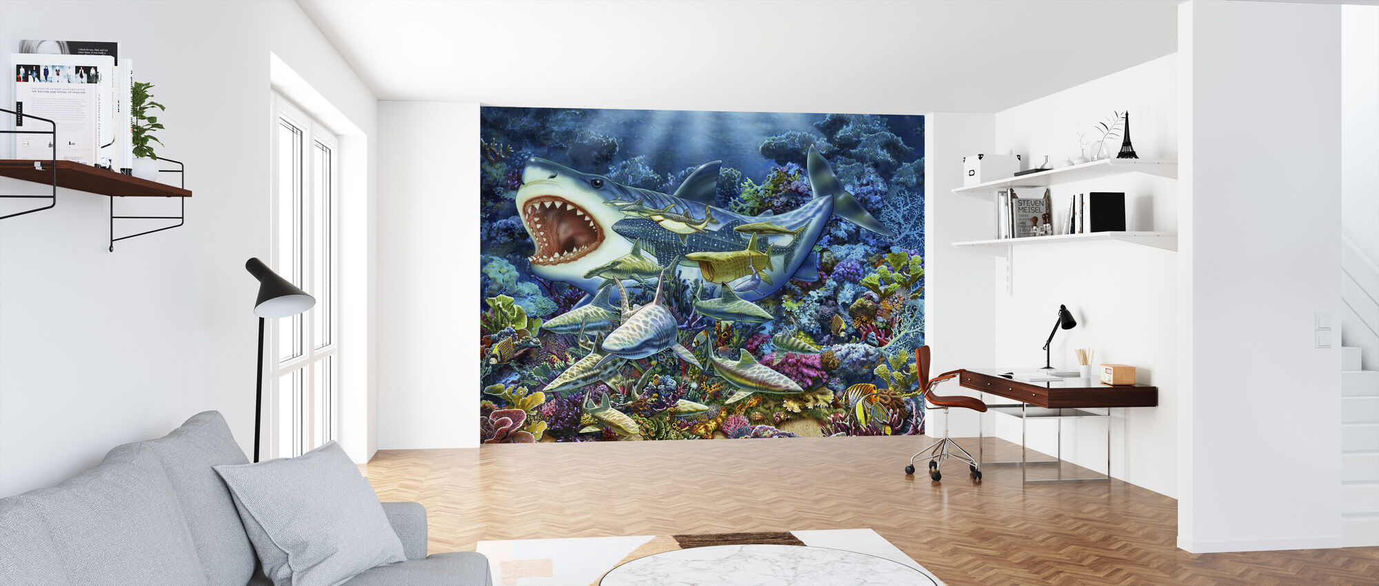 Shark Adventure - Wallpaper - Office