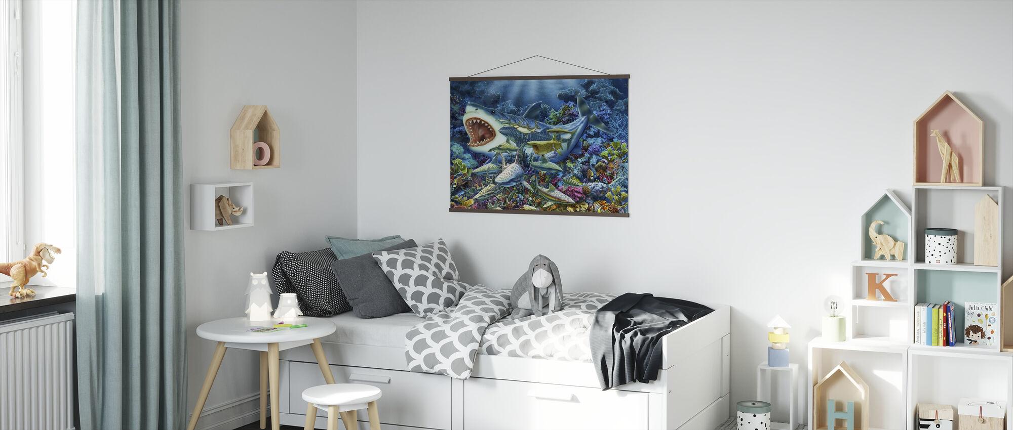 Shark Adventure - Poster - Kids Room