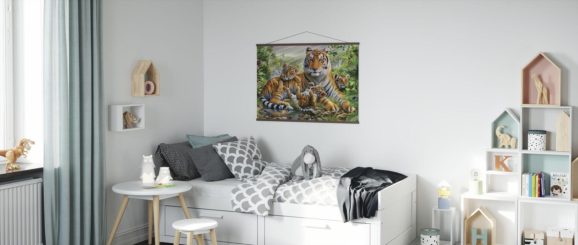 Tiger und Jungen - Poster - Kinderzimmer