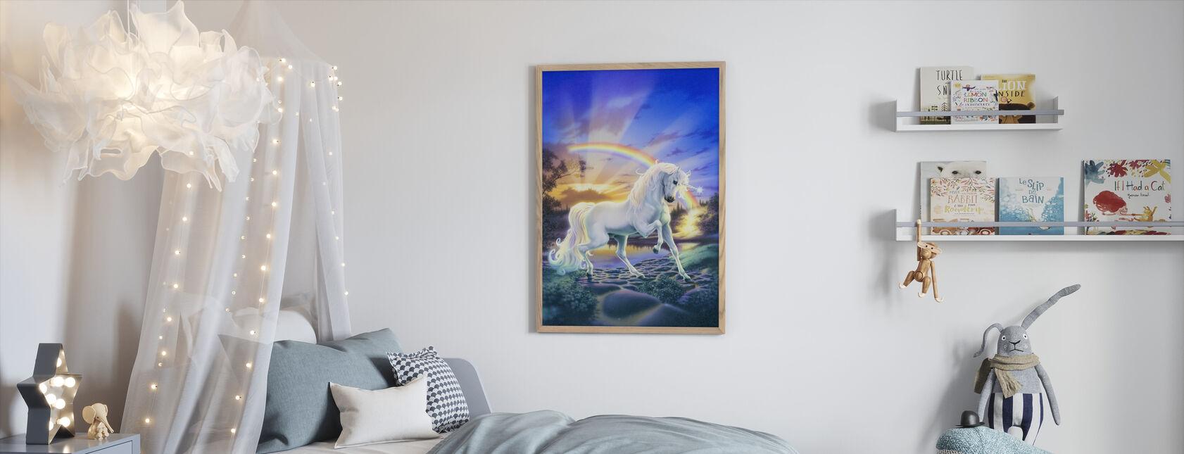 Rainbow Unicorn - Framed print - Kids Room