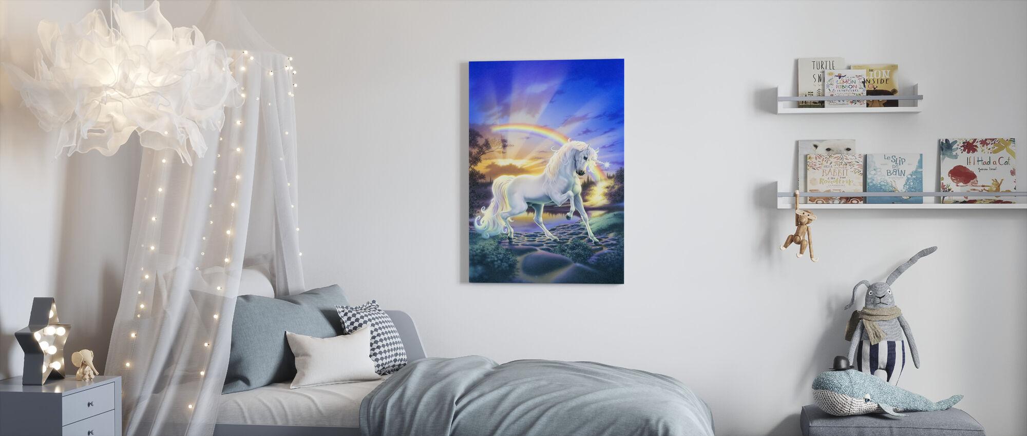 Rainbow Unicorn - Canvas print - Kids Room