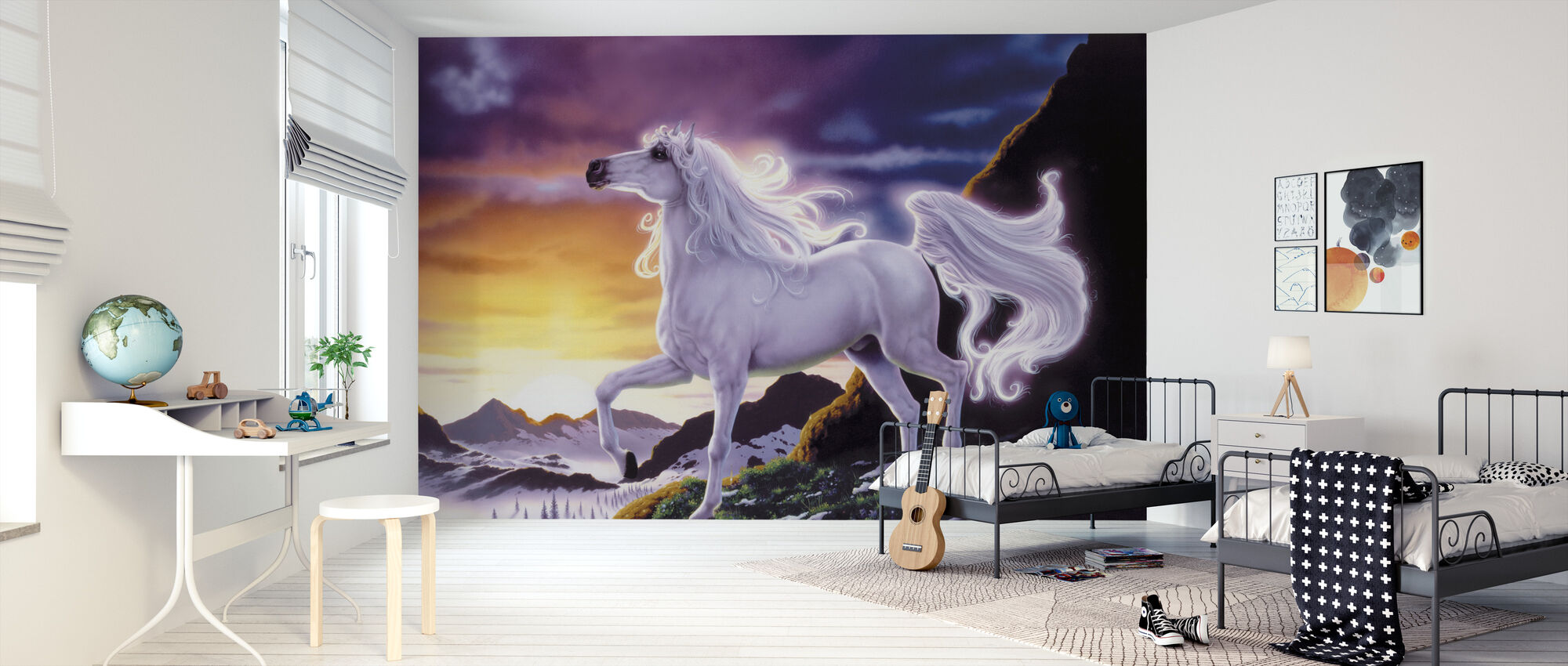 Mountain Fantasy hevonen - Tapetti - Lastenhuone