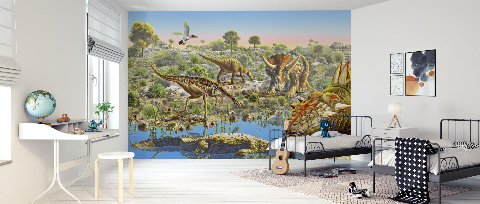 Dinosaurusvallei - Behang - Kinderkamer