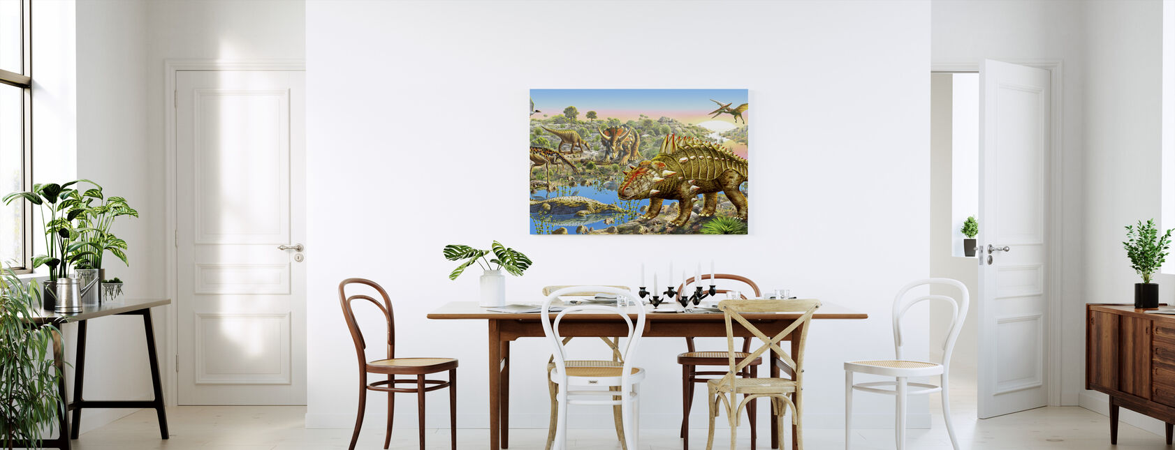 Panorama av dinosauriedalen - Canvastavla - Kök