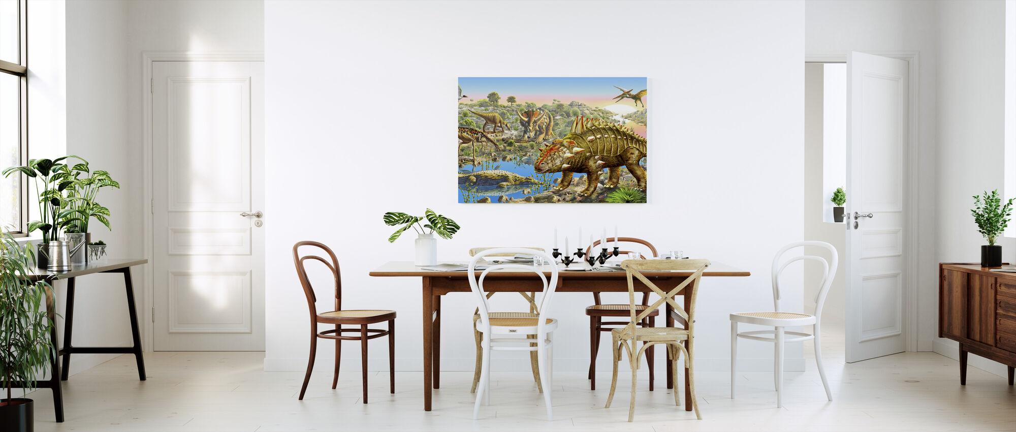 Dinosauruksen laakso Panorama - Canvastaulu - Keittiö